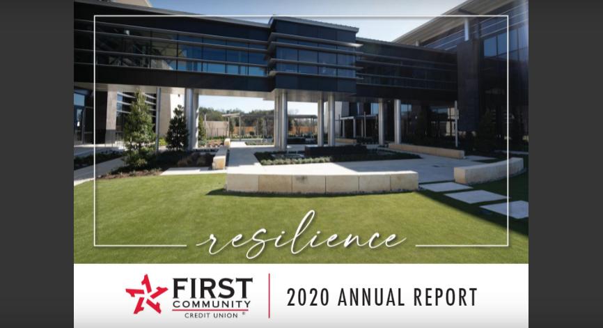 Cover page of 2020 FCCU Annual Report