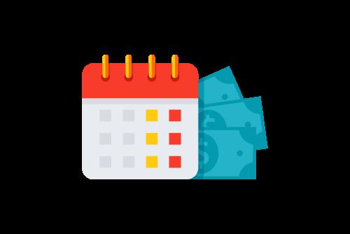 calendar money icon