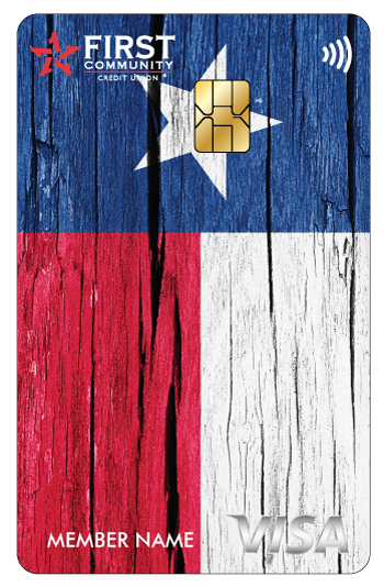 Texas flag FCCU credit card