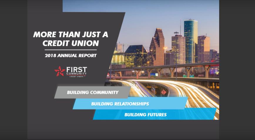 Cover page of 2018 FCCU Annual Report