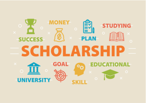 image with scholarship and various educational options