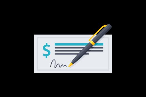 pen and check icon